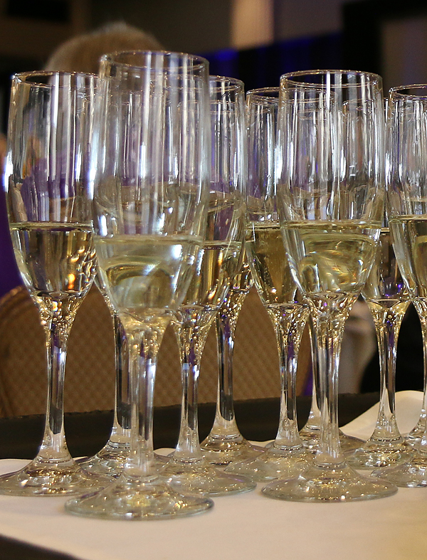 Champagne for the A.C. Greene toast