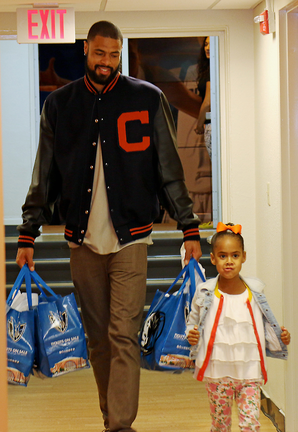 Tyson Chandler and Sayge Chandler