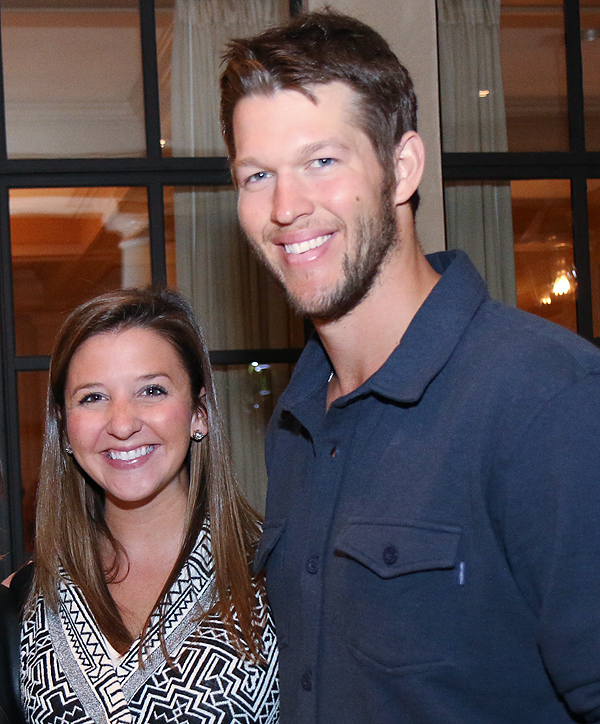 Ellen and Clayton Kershaw (File photo)