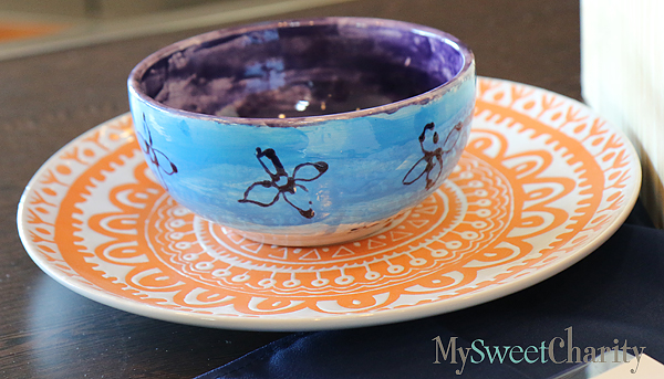 Soup bowl in silent auction
