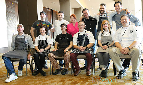 From the left (standing): Omar Flores, Bruno Davillon, Janice Provost, Abraham Salum, Chad Houser and Donald Chalk; (seated) Matt McCallister, Sarah Snow, Oliver Sitrin, Brian Luscher, Danyele McPherson and Chad Kelley.