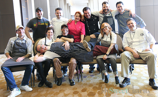 From the left (standing): Omar Flores, Bruno Davillon, Janice Provost, Abraham Salum, Chad Houser and Donald Chalk; (seated) Matt McCallister, Sarah Snow, Oliver Sitrin, Danyele McPherson and Chad Kelley; (lying) Brian Luscher.