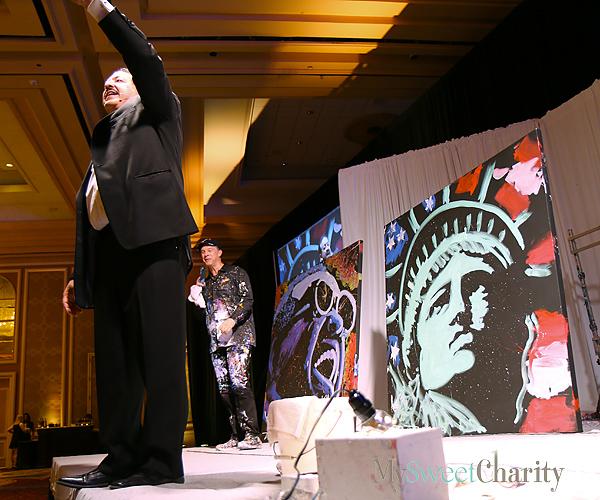 Louis Murad, David Dunn, Ray Charles and Lady Liberty