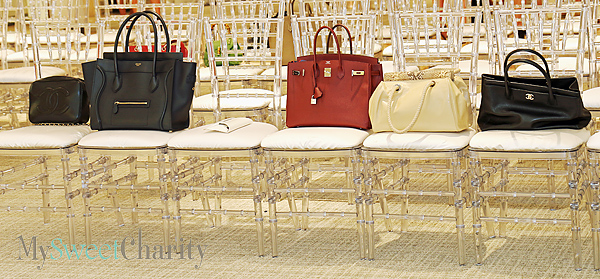 Purses in chairs