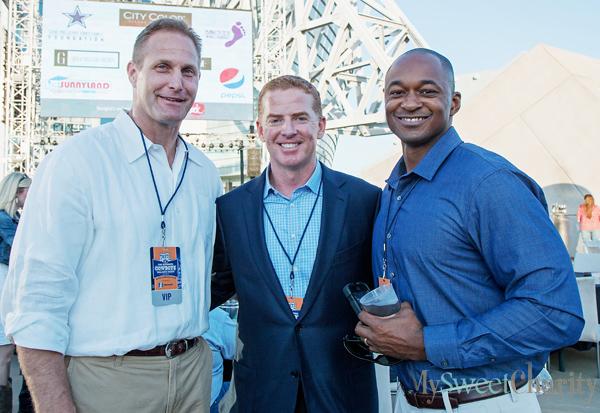 Chad Henning, Jason Garrett and Joseph Sanders