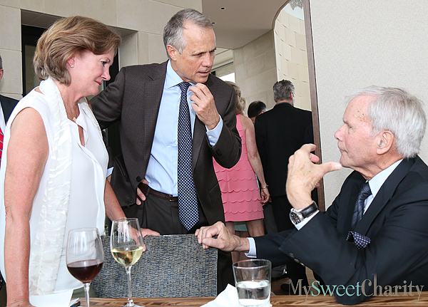Mary McDermott, Dan Patterson and Tom Brokaw