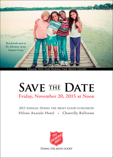 """Doing The Most Good"" Save The Date"
