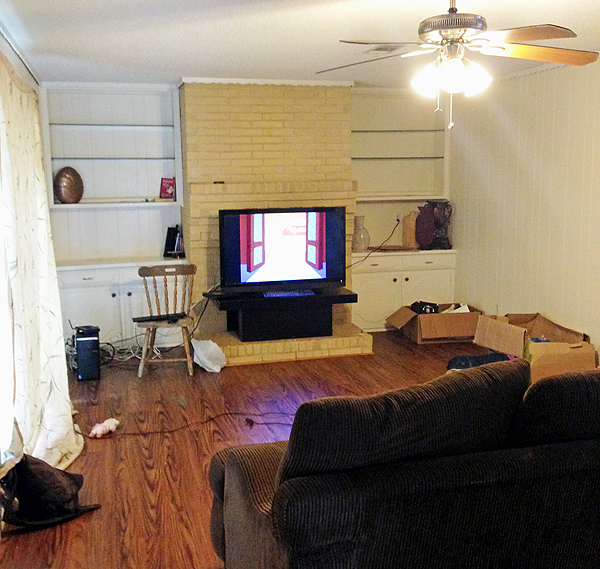 Before  - family room*