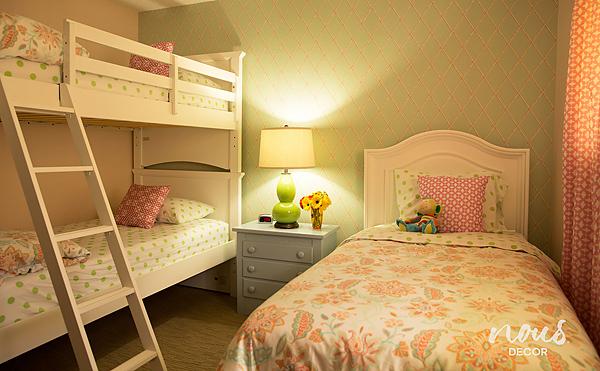 After - girls' bedroom**