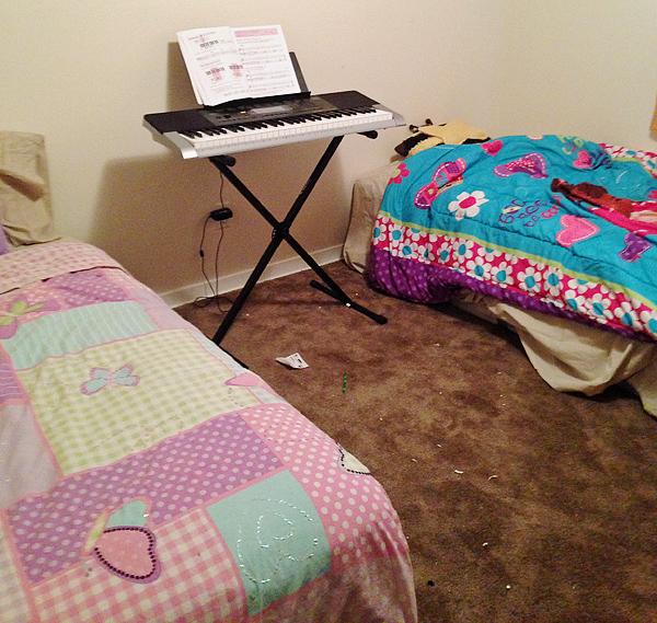 Before - girls' bedroom*