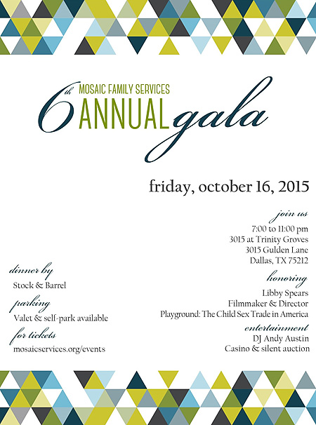 MySweetCharity Opportunity: Mosaic Family Services' 6th Annual Gala