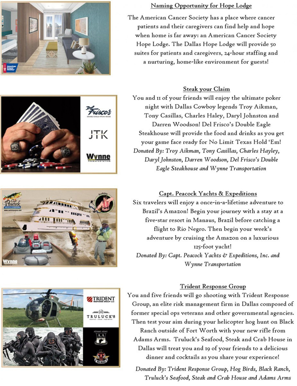 2015 Cattle Baron's Ball Live Auction Packages Part 4*