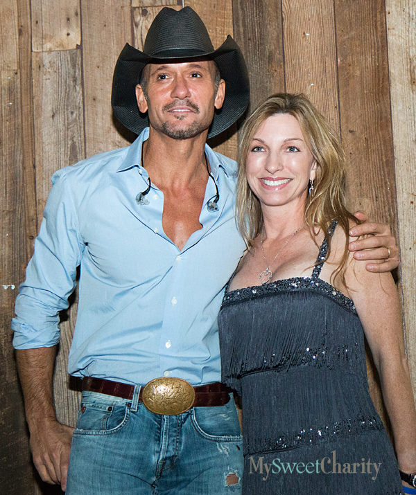 Tim McGraw and Kris Johnson