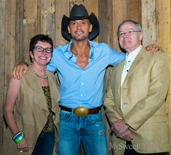 Diane Brierley, Tim McGraw and Hal Brierley