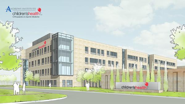 Children's Health Andrews Institute rendering*