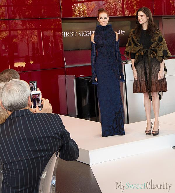 Elizabeth Anyaa model with Catherine Leppert