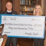 2015 Les Femmes Du Monde Team Presents Checks To Children's Health And World Affairs Council Of Dallas/Fort Worth