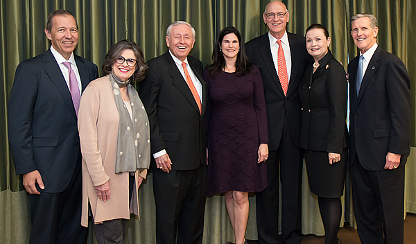 Gregg Ballew, Molly Bogen, Boone Powell Jr, Elizabeth Gambrell, David and Elaine Nelson and Joel Allison