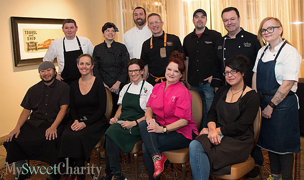 From the left: (back row) Drew Swanson, Suki Otsuki, Brian Zenner, Brian Luscher, Omar Flores, Abraham Salum and Danyele McPherson; (front row) Dennis Kelley, Melody Bishop, Sarah Snow, Janice Provost and Misti Norris