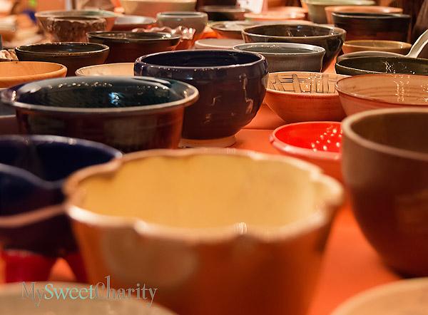 Empty Bowls' bowls