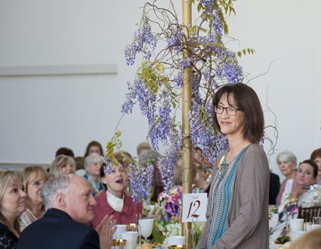 Art In Bloom Had Tables Topped To The Hilt And To Impress Dr. Todd Langstaffe-Gowan