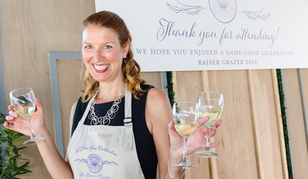 """Les Dames d'Escoffier Filled The Shed With Lavender, Fabulous Food, Wines And Bidding For """"A Dame Good Celebration"""""""