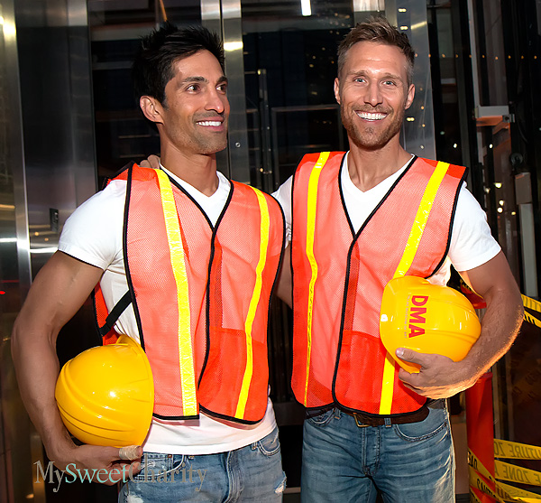 Hunky construction workers