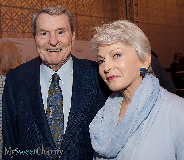 Jim Lehrer and Rena Pedersen