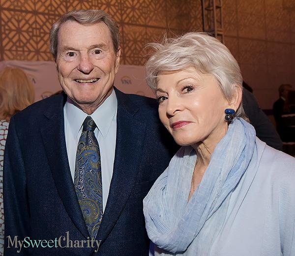 Jim Lehrer and Rena Pedersen