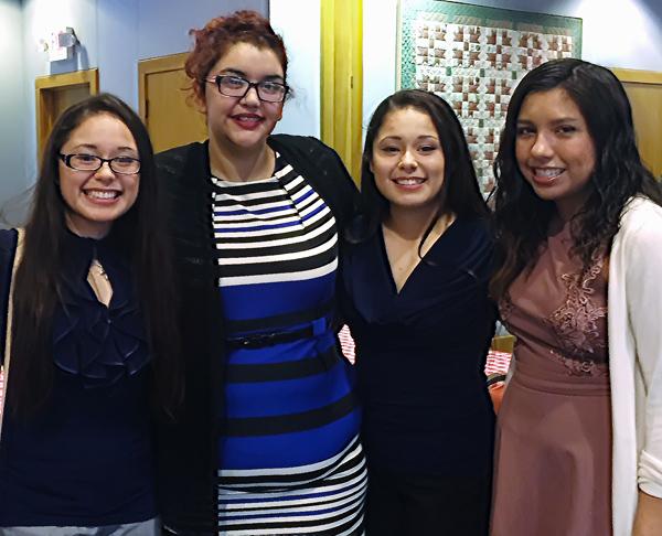 Rosa Mendoza, Angela Chavez, Maria Mendoza and Angie Escorza*
