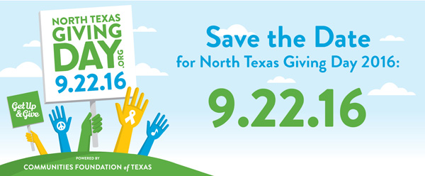 2016 North Texas Giving Day Save-The-Date*