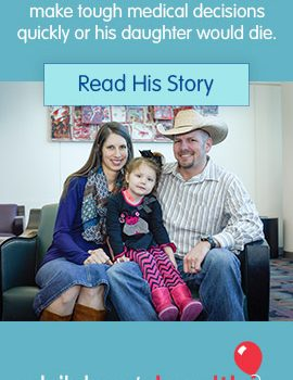 Children's Medical Center Foundation Provides Stories About The Family Hero