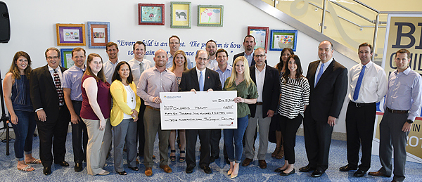Donor(D160621R): KIDstruction event with check presentations from participating architecture firms that raised funds for CHST.*