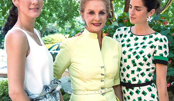 Designer Carolina Herrera And Her Daughters Joined Crystal Charity Ball Patrons At Tucker And Rich Enthoven's Estate