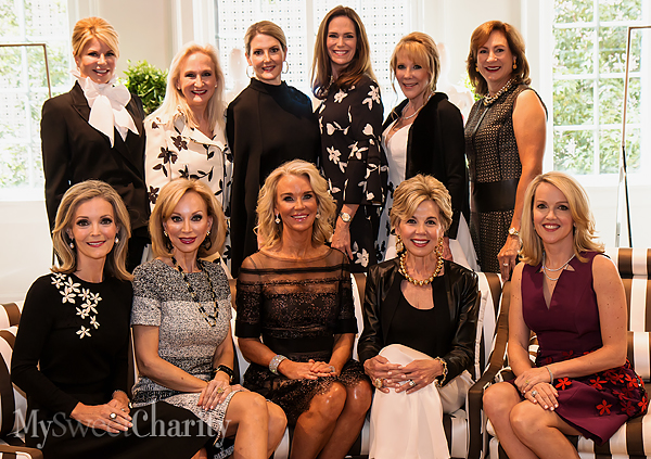 From the left: (front row) Katherine Coker, Anita Arnold, Betsy Sowell, Pat Harloe and Heather Esping; (back row) Julie Hawes, Janie Condon, Piper Wyatt, Margaret Hancock, Mary Clare Finney and Tucker Enthoven