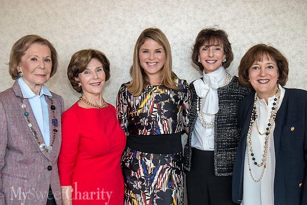 Ruth Altshuler, Laura Bush, Jenna Bush Hager, Nancy Halbreich and Janie McGarr