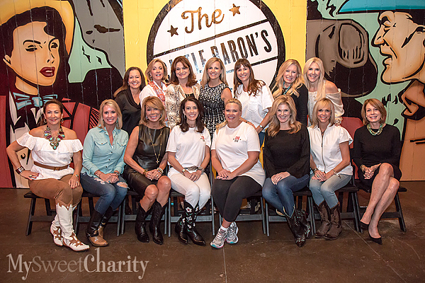 Past and 2016 Cattle Baron's chairs from the left: (seated) Cindy Turner, Amy Turner, Olivia Kearney, Cara French, Andrea Weber, Tanya Foster, Cindy Stager and Joan Eleazer; (standing) Cindy Lindsley, Vicki Chapman, Karol Bruton, Kristen Sanger, Tia Wynne, Mary Parker and Katherine Wynne
