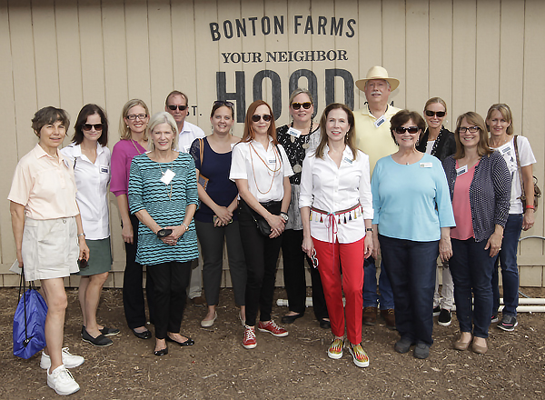 From the left: Judy Townley, Anne Holmes, Laura J. Brown, Lesley Martinelli, Steve Holmes, Sarah Burns, Sara Ahr, Helen Holman, Jenny Mullen, Steven Engwall, Claudia DeMoss, Lydia Addy, Carol Noble and Lori Giesler*