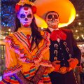 Day of the Dead human statues