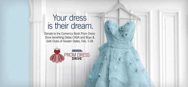 Comerica's Prom Dress Drive Is Providing An Opportunity To Play Fairy Godmother For Dallas CASA And Boys And Girls Clubs Of Greater Dallas  Cinderallas