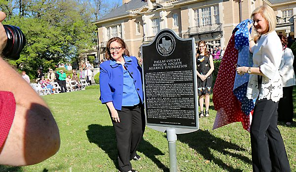The Sun Shone On The Dedication Of The Texas Historical Marker For The Dallas County Medical Society Alliance Foundation