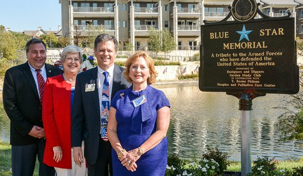 Blue Star Memorial Unveiling Took Place at T. Boone Pickens Hospice And Palliative Care Center Under Blue Skies