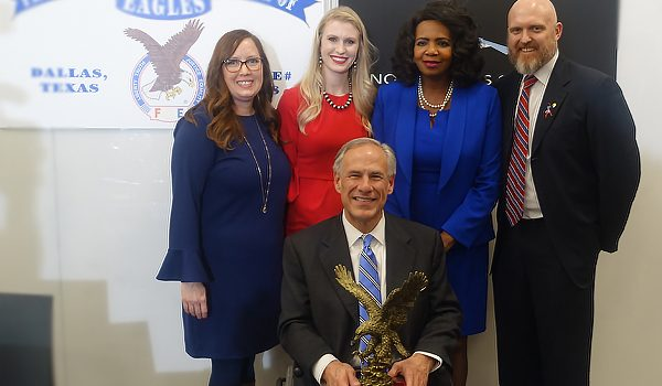 Texas Gov. Gregg Abbott Accepts Champion Of Freedom Award At Dallas CASA And Announces New Efforts To Fight Human Trafficking