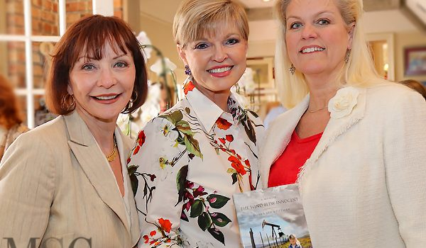 Author Donna Arp Weitzman Did Double Duty Hosting Les Femmes Membership Tea And Signing Her Latest Book