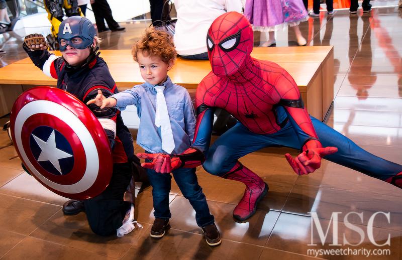 Captain America, Luca Nelson, Spiderman