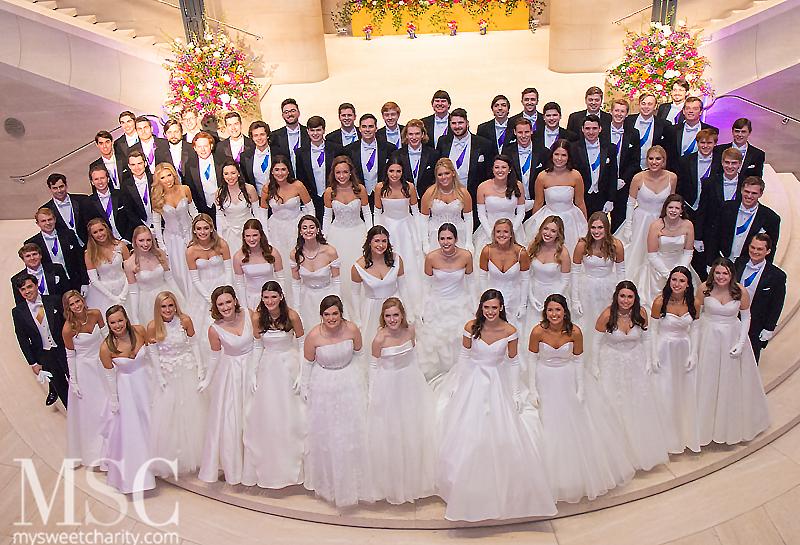 2019 Dallas Symphony Orchestra League Presentation debutantes and escorts